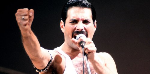 Freddie Mercury joins Queen on stage in London