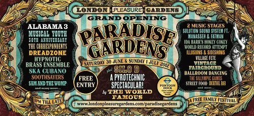 The London Pleasure Gardens opens its doors with free festival this Saturday