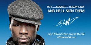Buy O2′s SMS Audio headphones and meet 50 Cent in London