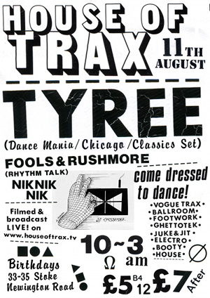 House Of Trax returns with Chicago legend Tyree Cooper