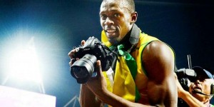 Usain Bolt DJs in London, probably better than Fatboy Slim at last night's Olympics