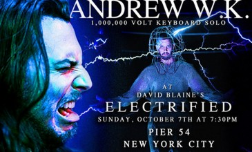 Andrew WK announces live keyboard solo powered by…David Blaine