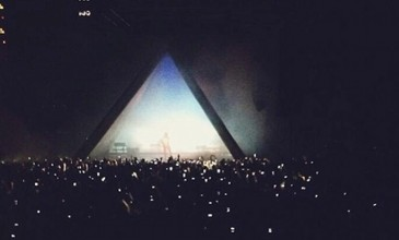 Watch Kanye West perform new material inside a pyramid