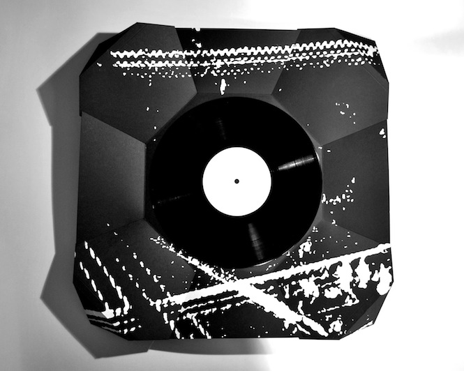 Check Out This Fold Out Origami Record Sleeve Designed By