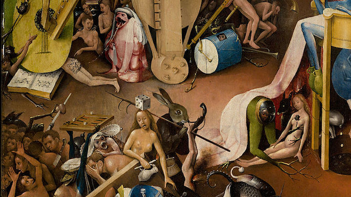 "Listen to the ""600-years-old butt song from hell"" in Hieronymus Bosch's <em>The Garden of Earthly Delights</em>"