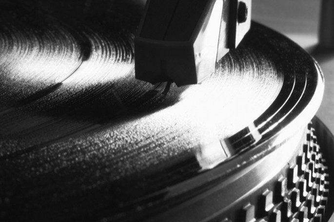Black and White Turntable
