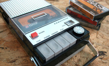 This cassette player plays Spotify from actual tapes