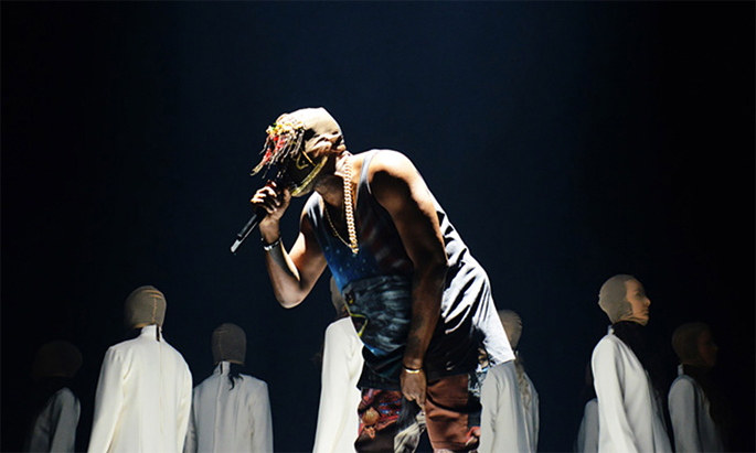 Kanye West fan compiles entire Yeezus concert film from ... Kanye West Yeezus Concert