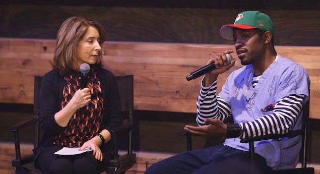 Watch Andre 3000 discuss OutKast tour jumpsuits and participate in panel conversation for i feel ya exhibit