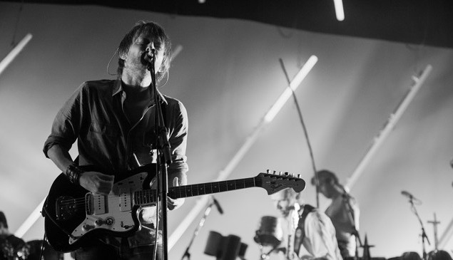 Atoms For Peace performing in Los Angeles.