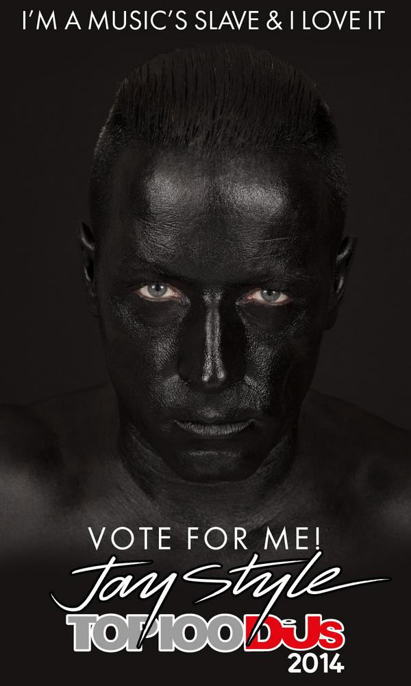 "DJ dons blackface and calls himself ""music's slave"" in campaign for DJ Mag's Top 100 poll"