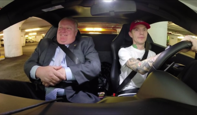 Watch Deadmau5 and Rob Ford go on a coffee run