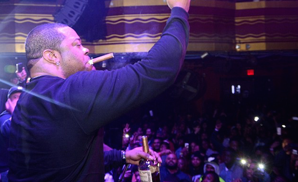 Busta Rhymes fell off stage performing in New York, and the video is hilarious