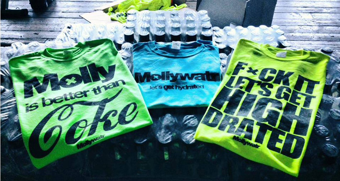 """Let's get high-drated"": Mollywatr markets bottled water to EDM fans"