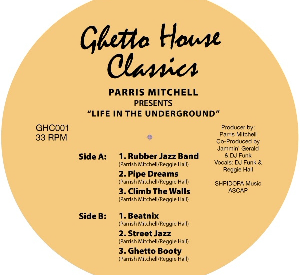 Crosstalk reissues parris mitchell 39 s ghetto house classic for Classic underground house music