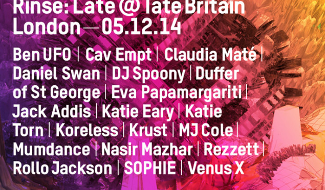 Rinse announce Late @ Tate Britain event with production masterclasses from Krust, MJ Cole and Mumdance and a roundtable discussion with Ben UFO
