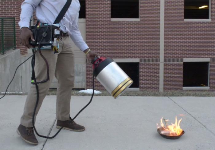Watch sound waves extinguish fire