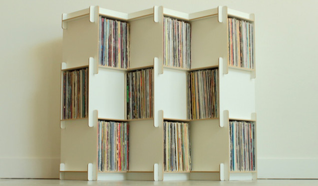 This modular unit might challenge IKEA's dominance in the vinyl shelving market
