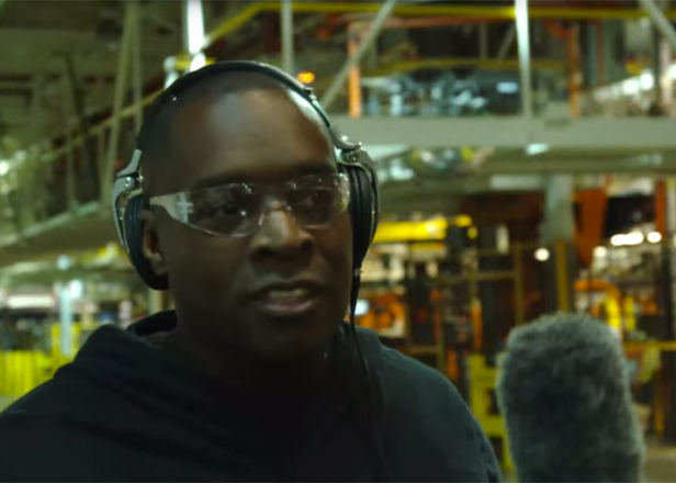 Watch Kevin Saunderson hunt for samples at the Ford assembly plant