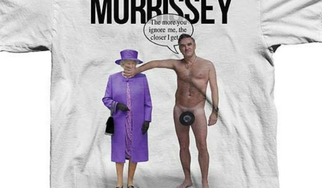 Morrissey is selling a T-shirt of himself naked with the Queen