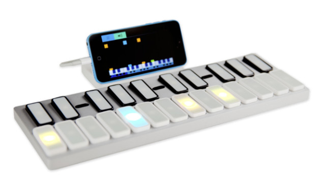 Say goodbye to lessons - Opho Keys is a keyboard that teaches you how to play the piano like Rock Band