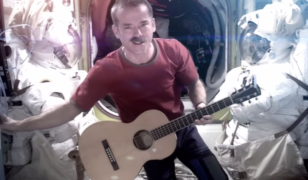 An astronaut is releasing an album recorded in space