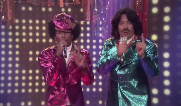 Watch Pharrell and Jimmy Fallon perform as 80s R&B duo Afro & Deziak
