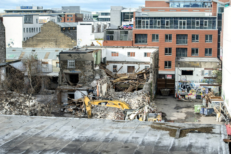 The studio where U2 recorded their early albums has been demolished