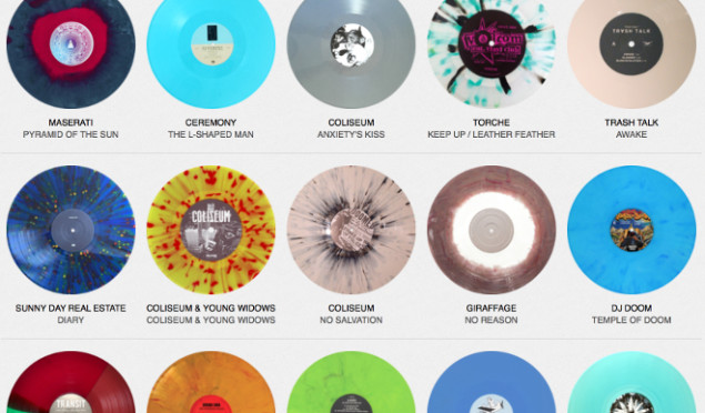 Browse an online archive of coloured vinyl and picture discs