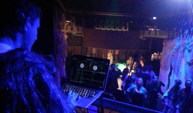Hudson Mohawke played a secret DJ set in a Chewbacca costume