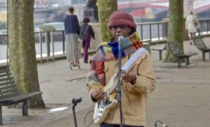 No one recognised Nile Rodgers busking on London's South Bank