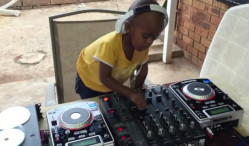 Watch a two-year-old DJ play tunes like a professional