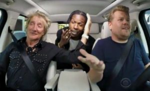 A$AP Rocky and Rod Stewart sang karaoke in James Corden's car