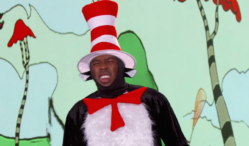 Watch Tyler, The Creator rap the new Dr. Seuss book while dress as the Cat In The Hat