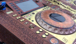 Tomorrowland commissioned a set of steampunk CDJs