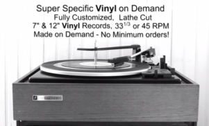 Press anything you want to vinyl without making a huge order with Super Specific Vinyl