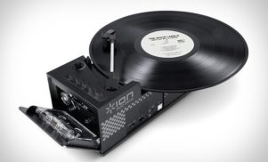Behold, the combination cassette deck record player