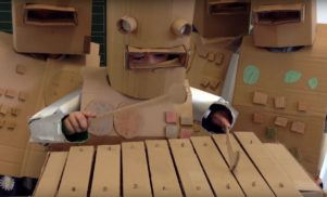 You need to watch these German schoolkids playing Kraftwerk's 'Die Roboter'