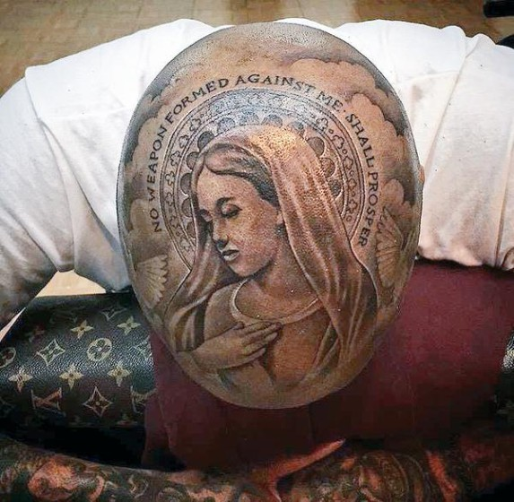 Yg S New Tattoo Covers His Entire Head