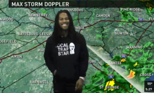 Waka Flocka Flame fills in as weatherman for local news station