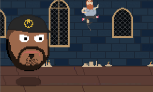 Run from Ghostface Killah's giant floating head in Action Bronson browser game