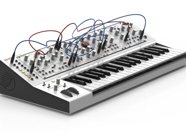 Waldorf has made a keyboard case for Eurorack modules