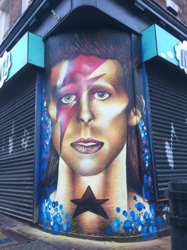 an incredible david bowie mural has appeared in sheffield