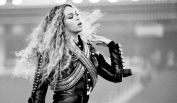 Hillary Clinton surprised Beyoncé on the set of an upcoming video