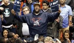 Protestors sing Kendrick Lamar's 'Alright' at Trump rally