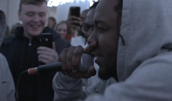 Watch Kendrick Lamar freestyle with Manchester kids