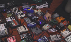 Hear what 100 guitar pedals chained together sounds like