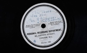 The Beatles' first recording has sold for £77,500