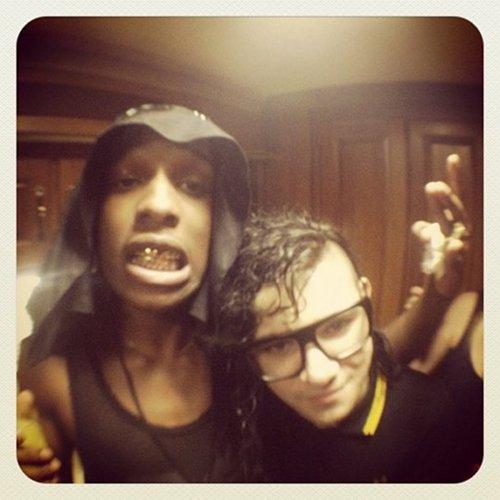 A$AP Rocky and Skrillex hit the studio
