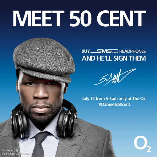 Buy O2's SMS Audio headphones and meet 50 Cent in London